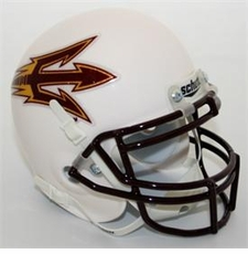 Arizona State Sun Devils White Schutt Authentic Mini Helmet