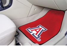 Arizona Wildcats 2-Piece Carpeted Car Mats Front Set