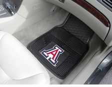 Arizona Wildcats 2-Piece Heavy Duty Vinyl Car Mat Set