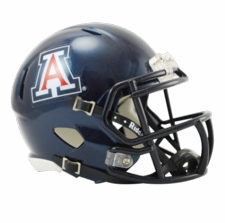 Arizona Wildcats Blue Riddell Speed Mini Helmet