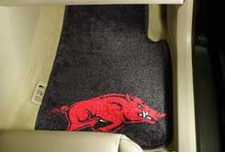 Arkansas Razorbacks 2-Piece Carpeted Car Mats Front Set