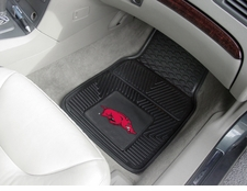 Arkansas Razorbacks 2-Piece Heavy Duty Vinyl Car Mat Set