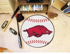"Arkansas Razorbacks 27"" Baseball Floor Mat"