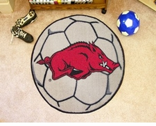 "Arkansas Razorbacks 27"" Soccer Ball Floor Mat"