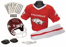 Arkansas Razorbacks Deluxe Youth / Kids Football Helmet Uniform Set