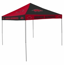 Arkansas Razorbacks Red / Black Checkerboard Logo Canopy Tailgate Tent
