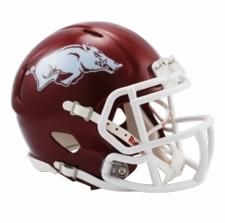 Arkansas Razorbacks Red Riddell Speed Mini Helmet