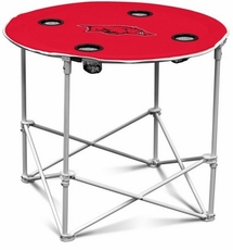 Arkansas Razorbacks Round Tailgate Table