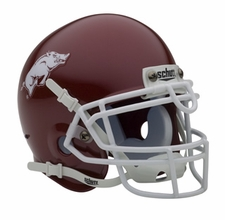 Arkansas Razorbacks Red Schutt Authentic Mini Helmet