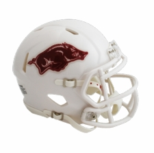 Arkansas Razorbacks White Riddell Speed Mini Helmet