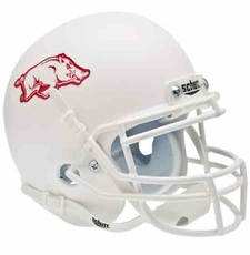 Arkansas Razorbacks White Schutt Authentic Mini Helmet