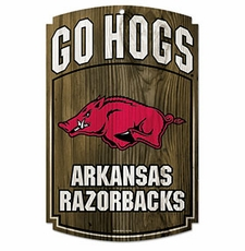 Arkansas Razorbacks Wood Sign