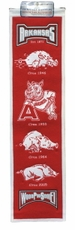 Arkansas Razorbacks Wool 8x32 Heritage Banner