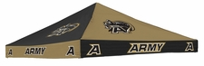 Army Black Knights Black / Gold Checkerboard Logo Tent Replacement Canopy