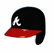 Atlanta Braves Red Brim, Left Flap Rawlings Authentic Batting Helmet