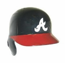 Atlanta Braves Red Brim, Right Flap Rawlings Authentic Batting Helmet