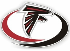 Atlanta Falcons 12 x 12 Die-Cut Window Film Decal