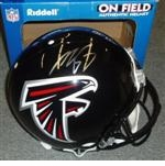 Atlanta Falcons Autographed Football Gear