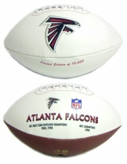 Atlanta Falcons Embroidered Autograph Signature Series Football