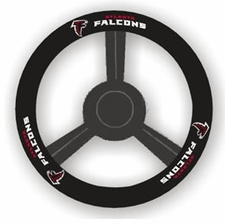 Atlanta Falcons Leather Steering Wheel Cover