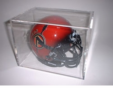Ball Qube Mini Helmet / Football Display Case