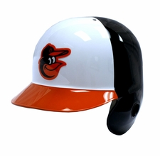 Baltimore Orioles White/Black/Orange Left Flap Rawlings Authentic Batting Helmet