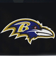 Baltimore Ravens 12 x 12 Die-Cut Window Film Decal