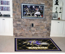 Baltimore Ravens 4'x6' Floor Rug