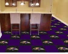 "Baltimore Ravens Carpet Tiles - 20 18"" x 18"" Tiles"