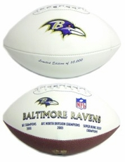 Baltimore Ravens Embroidered Autograph Signature Series Football