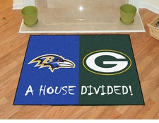 Baltimore Ravens - Green Bay Packers House Divided Floor Mat