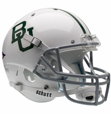 Baylor Bears Alt White Green Logo Schutt XP Full Size Replica Helmet