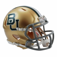 Baylor Bears Gold Riddell Speed Mini Helmet