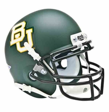 Baylor Bears Green Matte Schutt Authentic Full Size Helmet