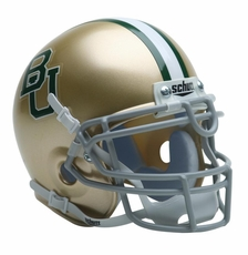 Baylor Bears Gold Schutt Authentic Mini Helmet