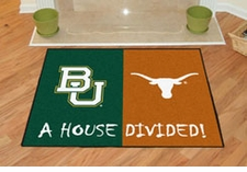 Baylor Bears - Texas Longhorns House Divided Floor Mat