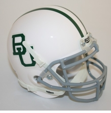 Baylor Bears White Schutt Authentic Mini Helmet