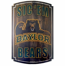 Baylor Bears Wood Sign