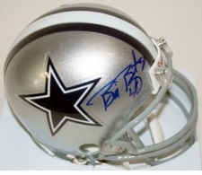 Bill Bates Dallas Cowboys Autographed Mini Helmet