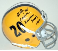 Billy Cannon Heisman Autographed LSU Tigers Mini Helmet