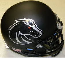 Boise State Broncos Blackout Schutt XP Authentic Mini Helmet