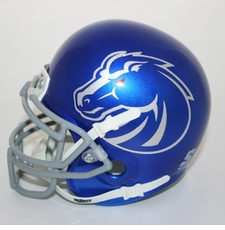 Boise State Broncos Blue Pro Combat Schutt Authentic Mini Helmet