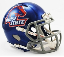 Boise State Broncos Blue Riddell Speed Mini Helmet