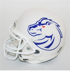 Boise State Broncos White Pro Combat Schutt Authentic Mini Helmet