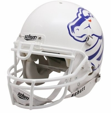 Boise State Broncos White Pro Combat Schutt Authentic Full Size Helmet