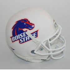 Boise State Broncos White Schutt Authentic Mini Helmet