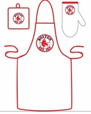 Boston Red Sox Cooking / Grilling Apron Set