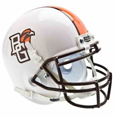 Bowling Green Falcons White Schutt Authentic Mini Helmet