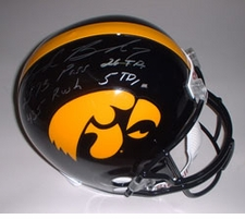 Brad Banks Autographed Iowa Hawkeyes Full Size Authentic Helmet