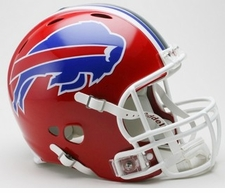 Buffalo Bills 2002-2010 Red Full Size Riddell Revolution NFL Helmet